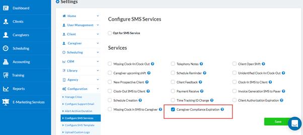 Configure SMS Services