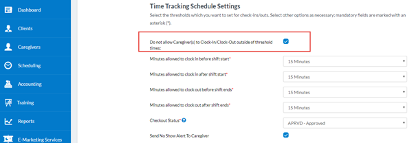 Time Tracking Schedule