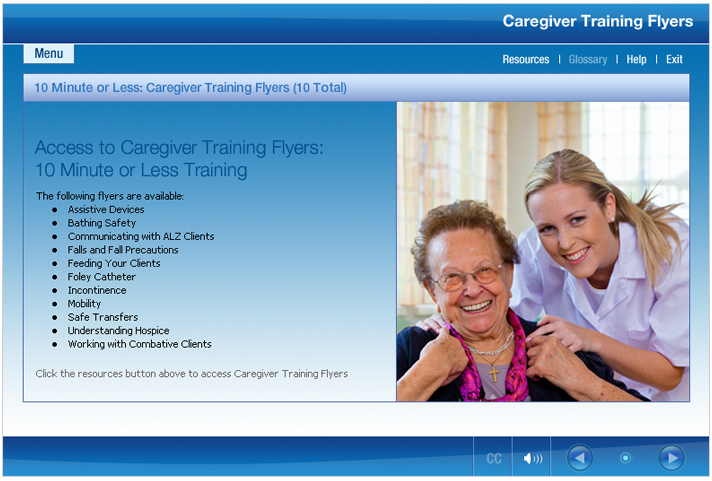 Caregiver training program - CareSmartz360