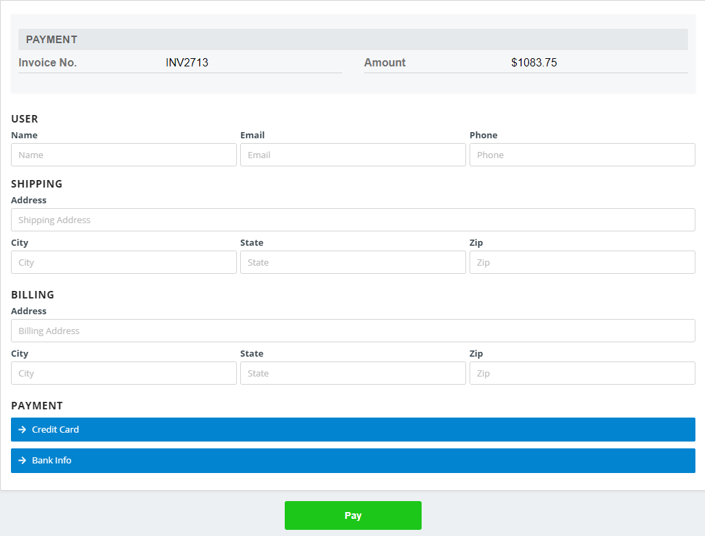 Finalized Invoice Screen Caresmartz