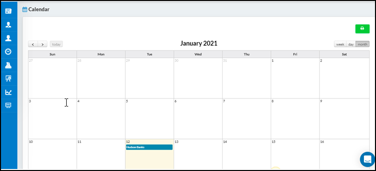 Print functionality has been  available on the personal calendar