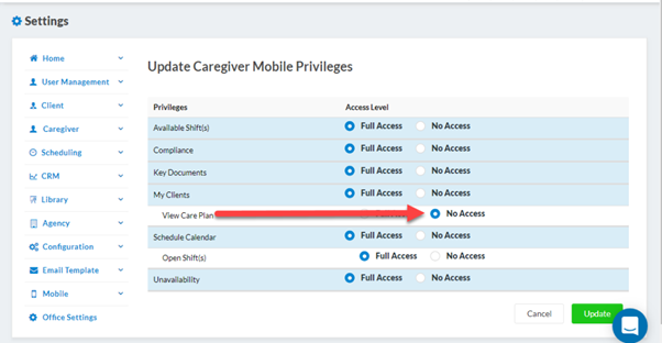 Care Plan Access